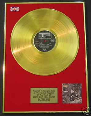 THE WHO -  24 Carat Gold Disc  MEATY BEATY BIG & BOUNCY